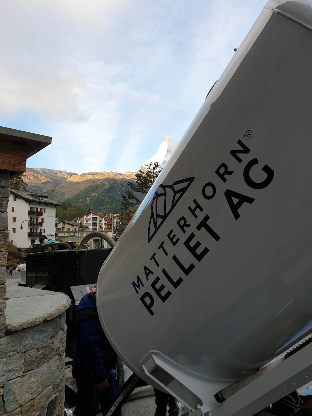 Lieferung Holzpellets 7 Heavens Zermatt